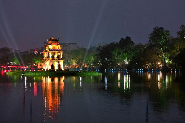 Chiếu sáng kiến trúc Tháp Rùa – Hà Nội