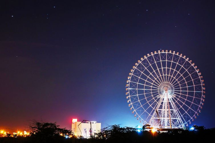 Lắp đặt chiếu sáng trang trí công viên nước Hồ Tây – Hà Nội