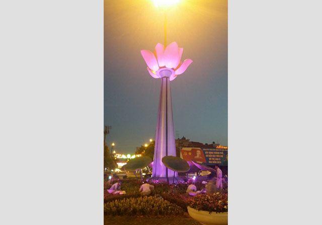 Thiết kế, sản xuất, thi công lắp đặt Đài Sen tại TP.Hưng Yên